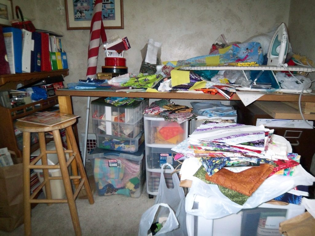 Sewing Room Before